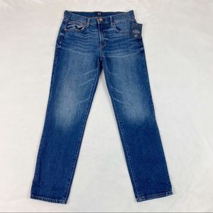 Gap Mid Rise GirlFriend Jeans tapered leg blue